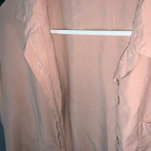 Vintage Pale Pink Button Up